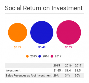 graphic social return on investment
