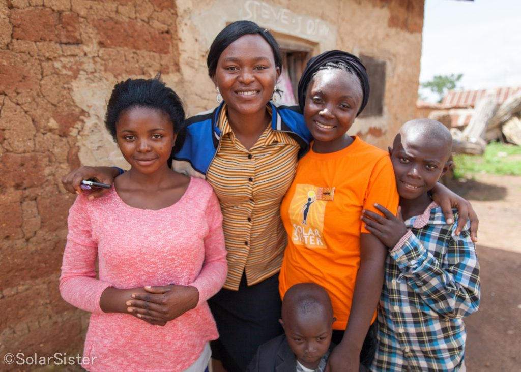 Solar Sister Entrepreneur and staff in Nigeria